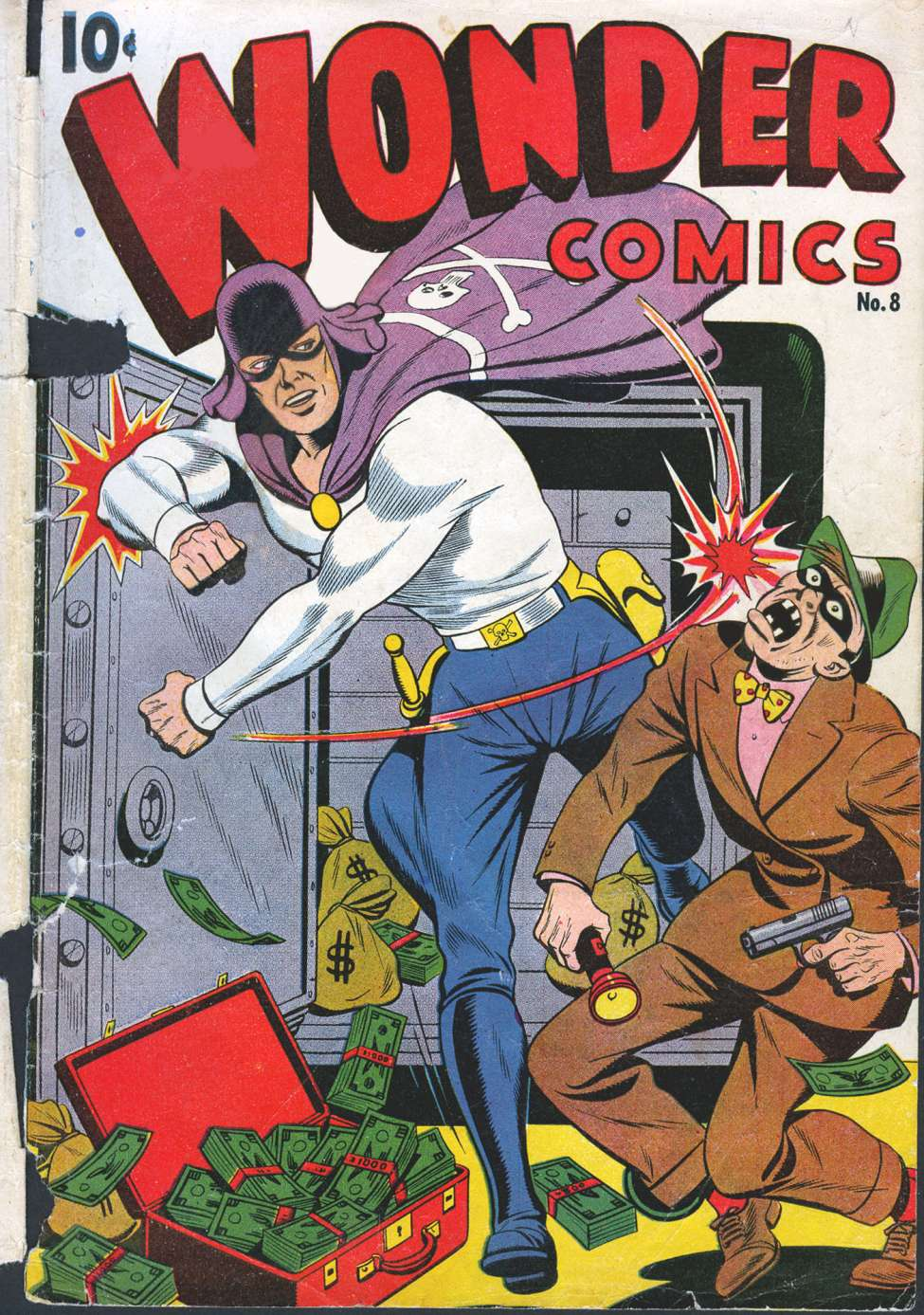 Comic Book Cover For Wonder Comics #8