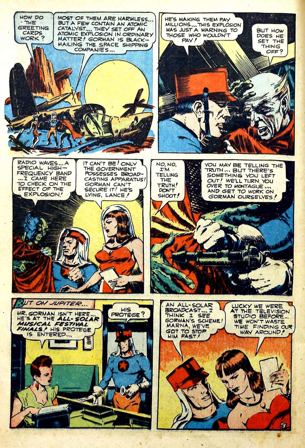 Comic Book Cover For Startling Comics #53