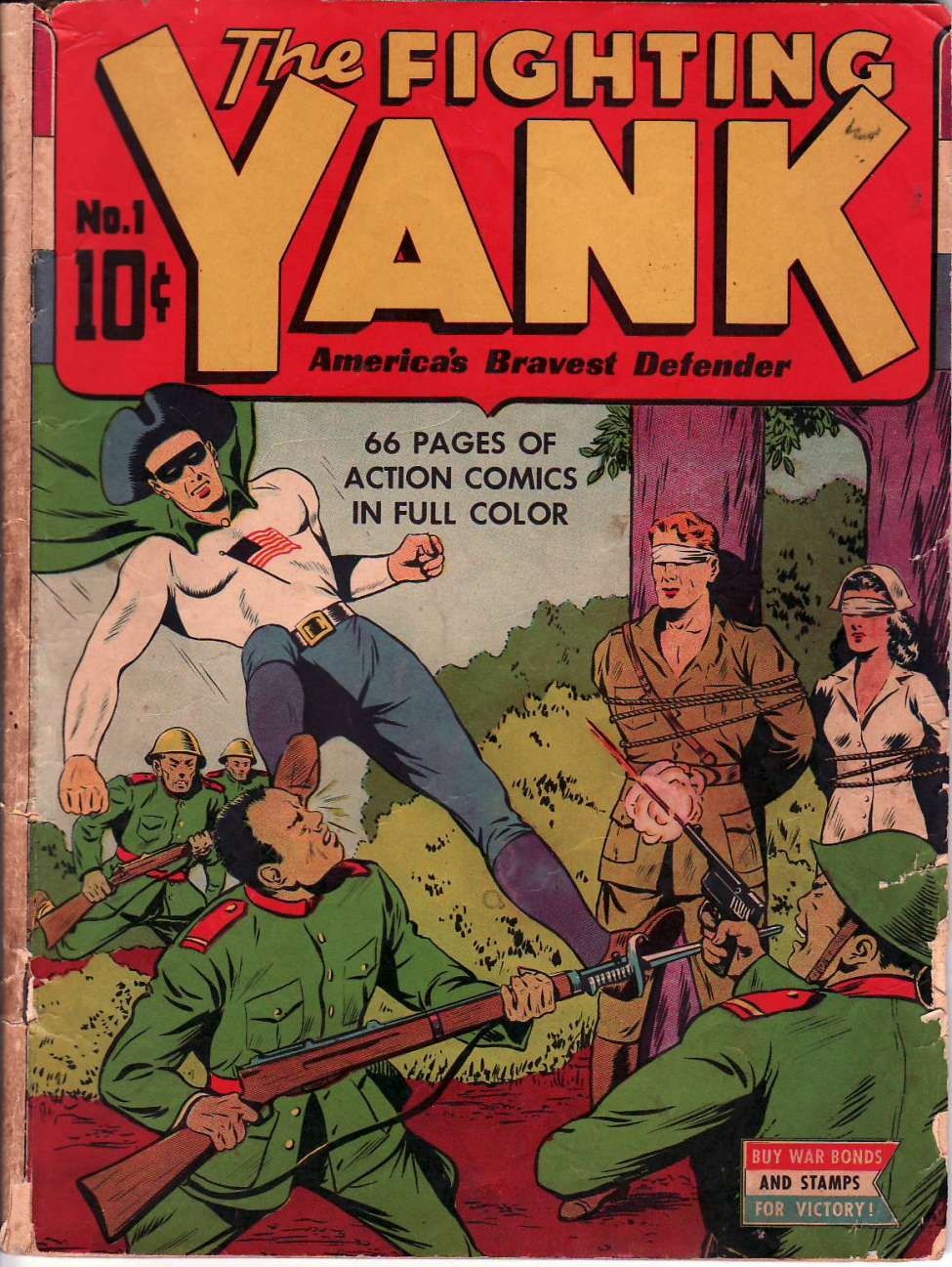 Comic Book Cover For The Fighting Yank #1
