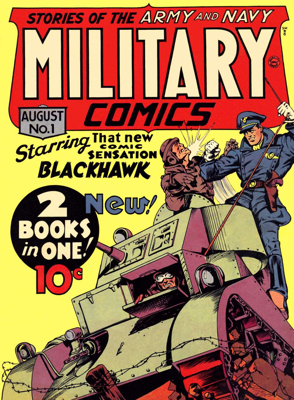 Comic Book Cover For Military Comics #1