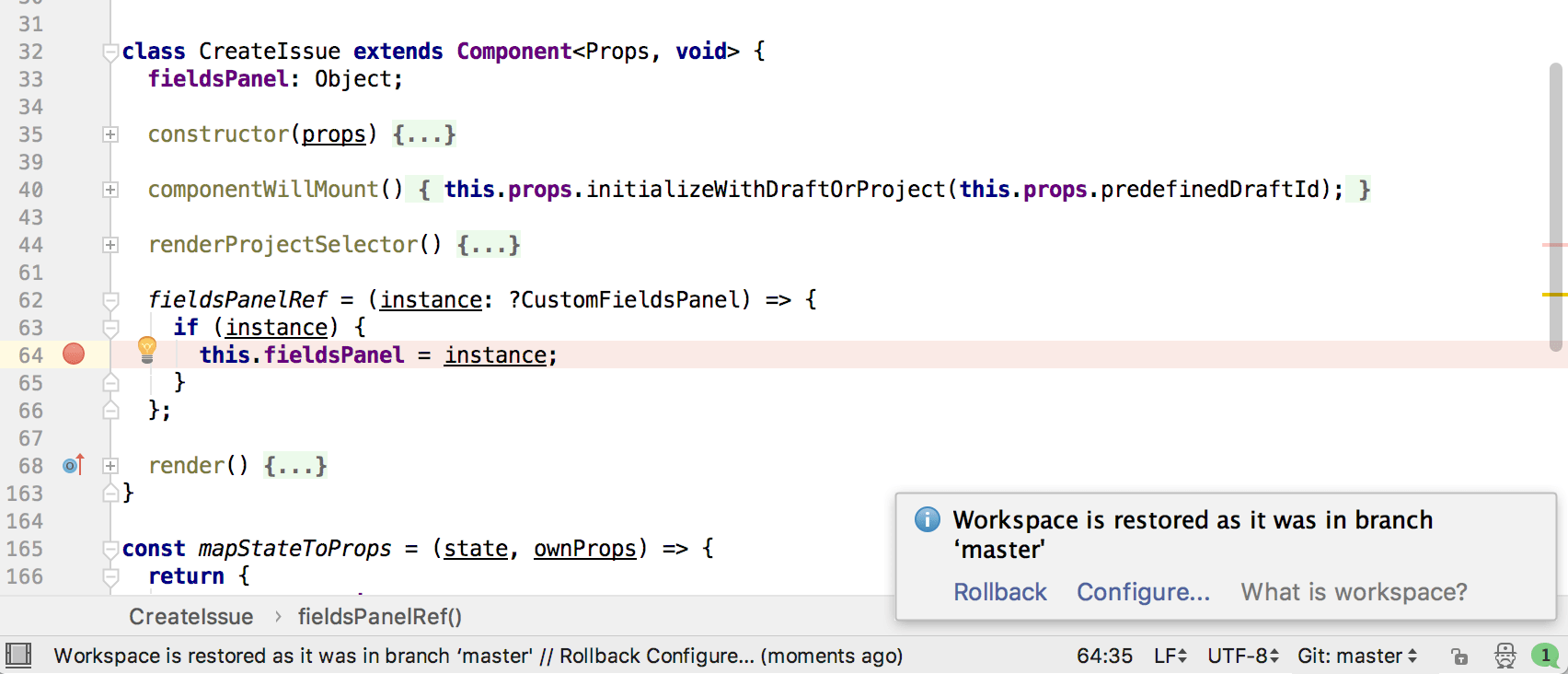 webstorm demo working with multiple branches