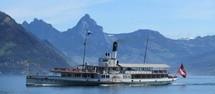Dampfschiff Uri vor Beckenried
