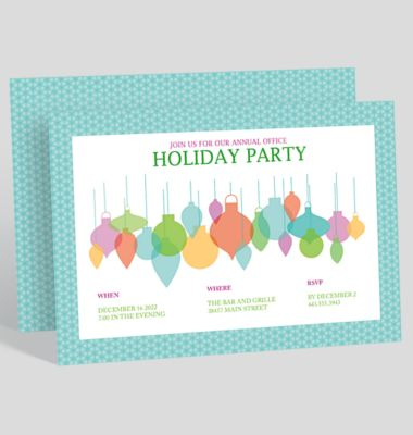 Paint The Town Red Holiday Party Invitation 1023717