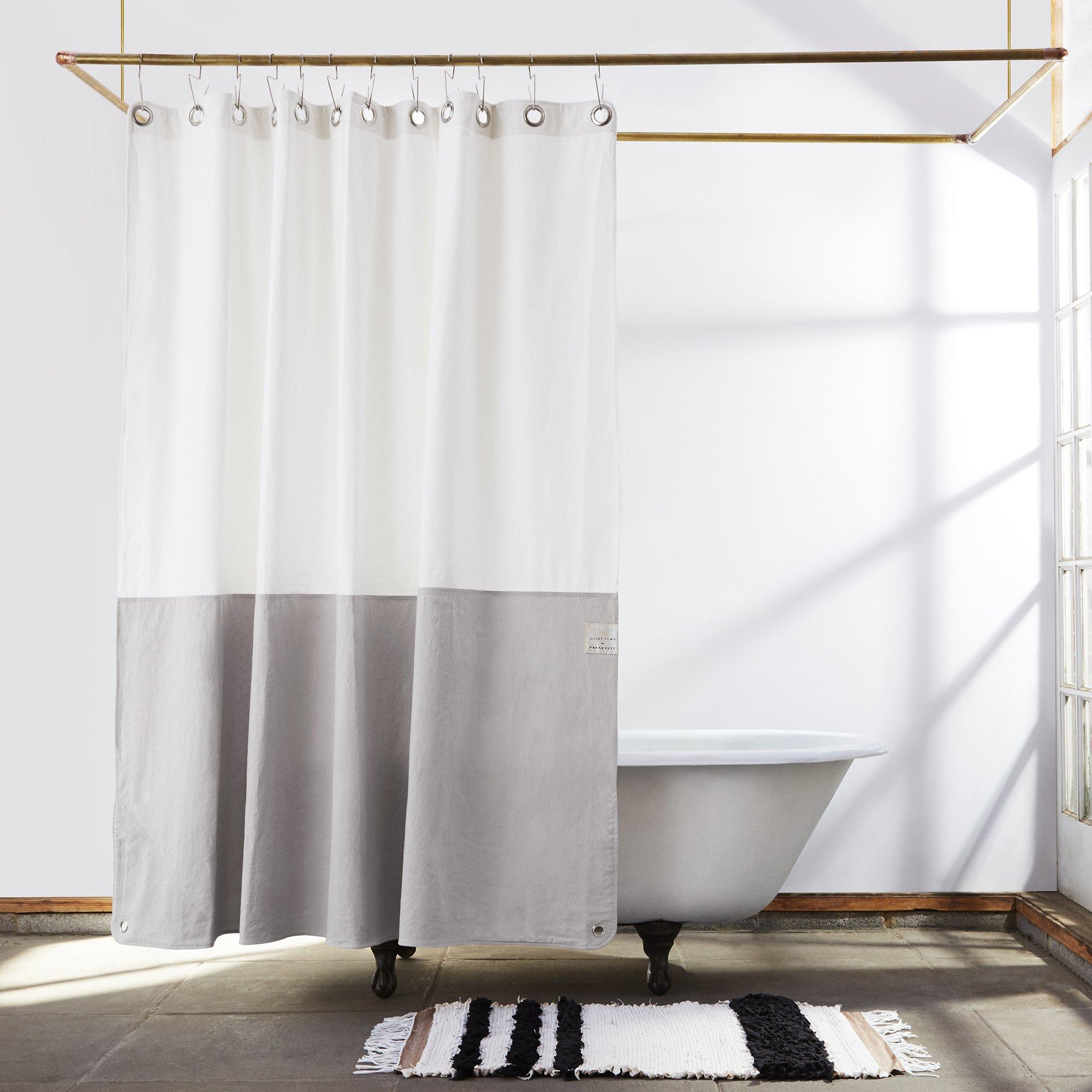 Quiet Town Canvas Shower Curtain Orient Driftwood