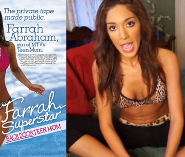 Teen Mom Cum Porn Monger Farrah Abraham Spoke Out For The First Time Today About Her Recently Leaked Sex Tape Which She Somehow Convinced Vivid