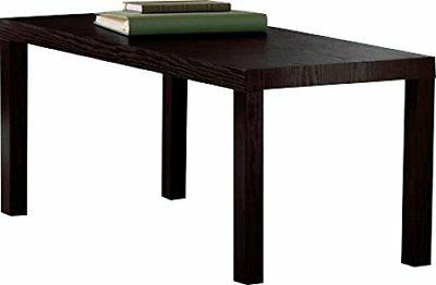 dhp parsons modern coffee table dark espresso living room furniture coffee tables