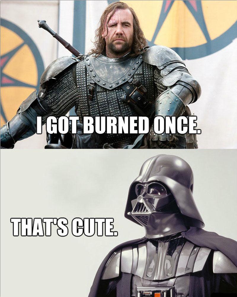 Reddit does a Star Wars vs Game of Thrones meme off