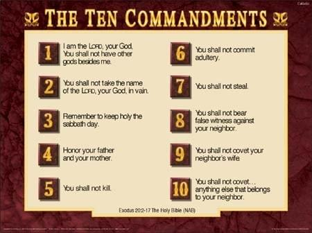 10 commandments of god # 45