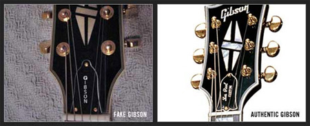 Gibson falsificada ou original - tampa do tensor