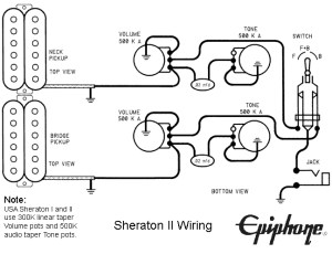 Original Gibson & Epiphone Guitar Wirirng Diagrams