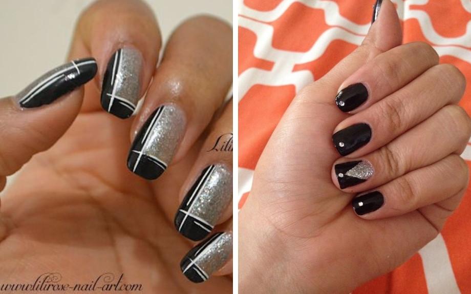 Unghie Nere E Argento La Tendenza Nails Più Elegante Del