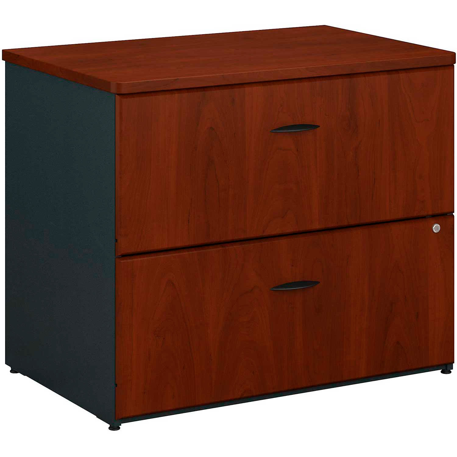 Desks Steel Office Collections Bush Furniture 2 Drawer Lateral File Cabinet Assembled Hansen Cherry Series A B474061 Globalindustrial Ca