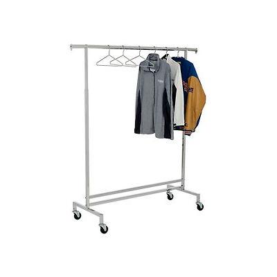 single hangrail rolling clothes rack k43 heavy duty square tubing chrome