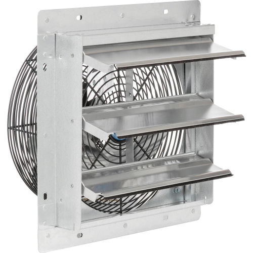12 3 speed direct drive exhaust fan with shutter 1 12 hp