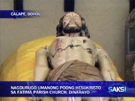 </b> Christ statue in Bohol church found bleeding