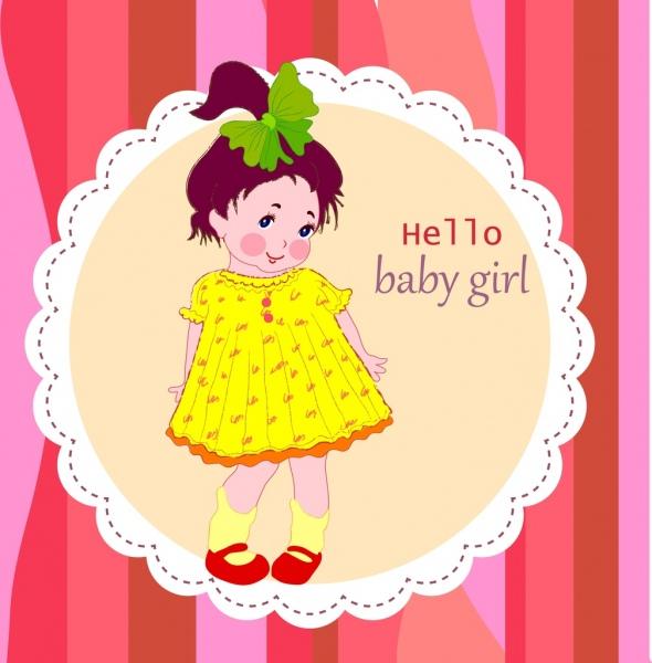 Gadis Lucu Bayi Ulang Tahun Perayaan Latar Belakang Ornamen Orang