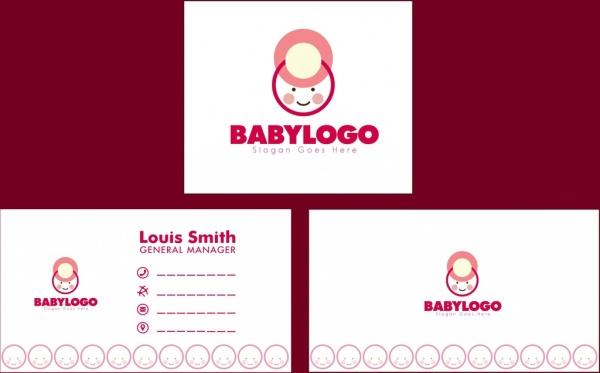 Bayi Toko Template Kartu Nama Anak Desain Logo Logo Vektor Vektor