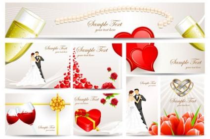 Indah Pernikahan Kartu Ucapan Vektor Vektor Misc Vektor Gratis