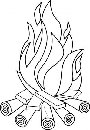 Feuer Strichzeichnungen Vektor ClipArt Kostenlose Vector