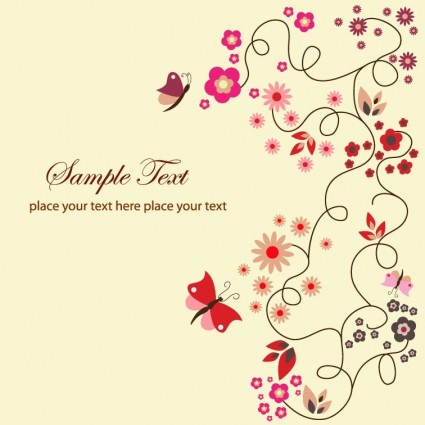 Free Vector Floral Kartu Ucapan Vektor Bunga Vektor Gratis Download