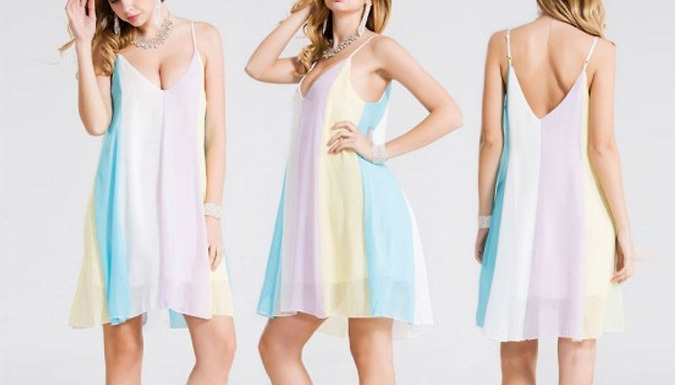 Rainbow Beach Dress - 5 Sizes