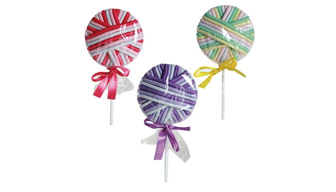 Set of 6 Lollipop Hair Ribbon Bands