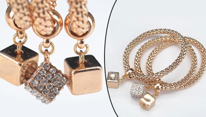 Cube Mesh Charm Bracelet