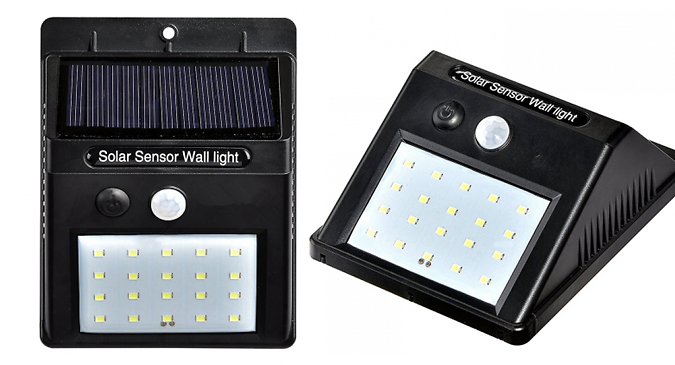 Motion-Activated LED Solar Security Lights