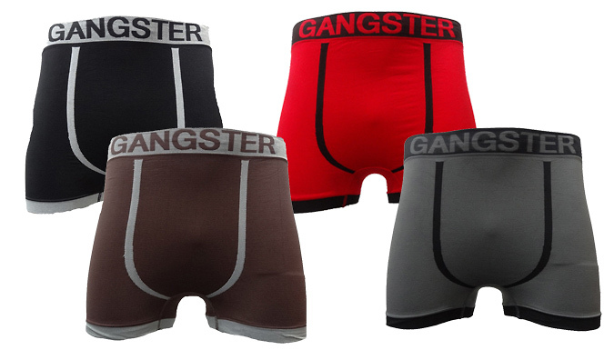 Mens Novelty-Themed Seamless Boxers - 6 Pack
