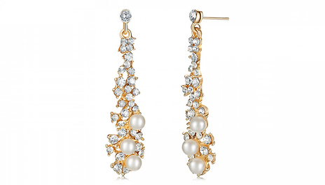 Make A Ballroom Worthy Statement With These Faux Pearl Chandelier Earrings Save 85