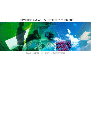 Cyberlaw And E Commerce
