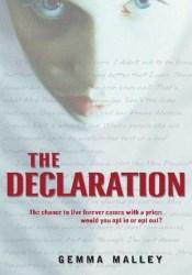 The Declaration (The Declaration, #1) Book by Gemma Malley