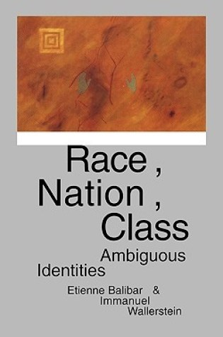 Race, Nation, Class: Ambiguous Identities PDF Book by Étienne Balibar, Immanuel Wallerstein PDF ePub