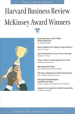Harvard Business Review McKinsey Award Winners