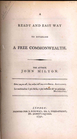 The Ready and Easy Way to Establish a Free Commonwealth