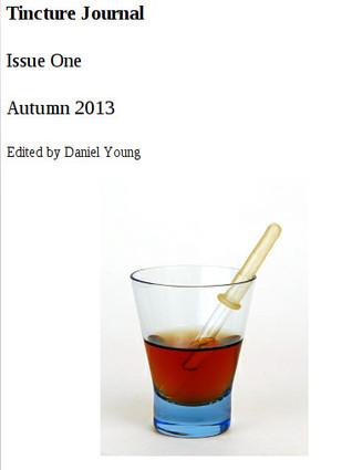 Tincture Journal, Issue One, Autumn 2013