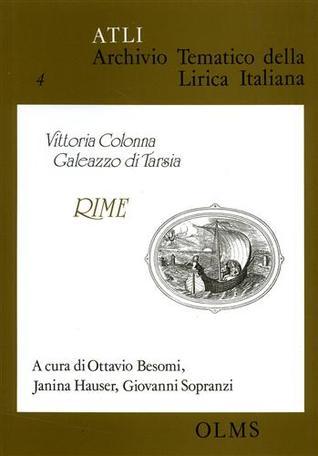 Vittoria Colonna, Galeazzo Di Tarsia: Rime
