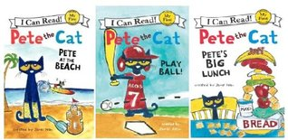 PETE CAT :Pete the Cat 3 Book Set: Play Ball!, Pete at the Beach, Pete's Big Lunch (My First I Can Read) [Paperback] James Dean