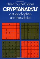 Cryptanalysis: A Study of Ciphers and Their Solution Pdf Book