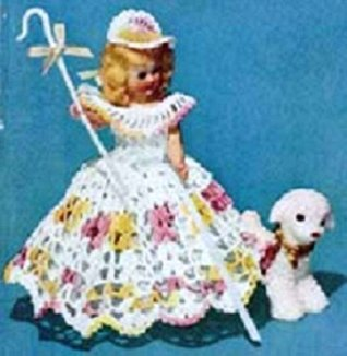 LITTLE BO-BEEP DOLL - A Vintage 1951 Crochet Pattern - Kindle Ebook Download (digital book, nursery rhyme, children, kids, storybook character, fairytales)