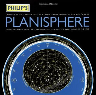 Philip's Planisphere: Northern 51.5 Degrees - British Isles, Northern Europe Northern USA and Canada