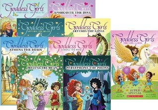 The Goddess Girls Super Set 9 Books Includes Aphrodite the Beauty, Aphrodite the Diva, Artemis the Brave, Artemis the Loyal, Athena the Brain, Athena the Wise, The Girl Games, Medusa the Mean, and Persephone the Phony.