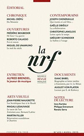 La Nouvelle Revue Française N° 612