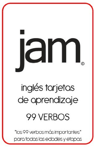JAM English Flashcards for Spanish Speakers: 99 Verbs