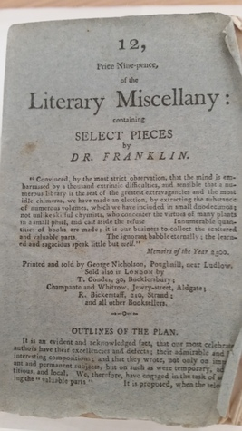 Literary Miscellany: containing Select Pieces by Dr. Franklin