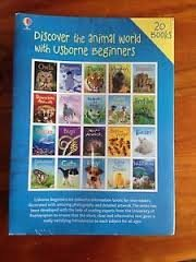 Usborne Animals Beginners Set Collection Pack (20 Books) RRP:£79.80 - Sharks, Dogs, Cats, Tigers, Monkeys, Farm Animals, Under the Sea, Dangerous Animals, Horse and Ponies, Reptiles, Eggs & Chicks, Bears, Caterpillars and Butterflies, etc