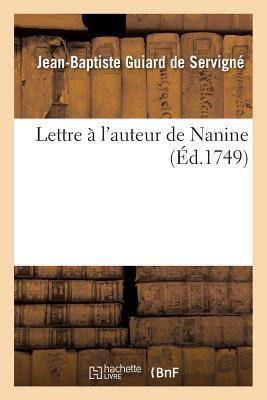 Lettre A L'Auteur de Nanine