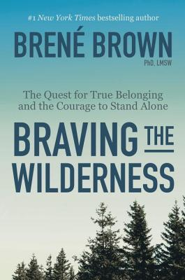 forsiden til boka Braving the wilderness, viser en blå himmel og toppen av noen i trær i tillegg til tittelinformasjon