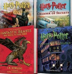 Harry Potter Illustrated Collection (Pack of 4)