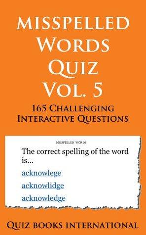 Misspelled Words Quiz Vol. 5